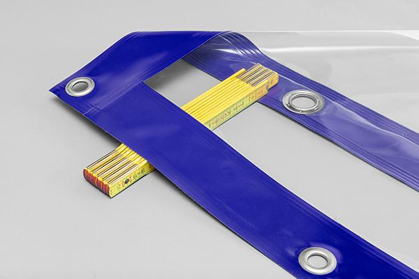 blau - komplett durchsichtig hochtransparent