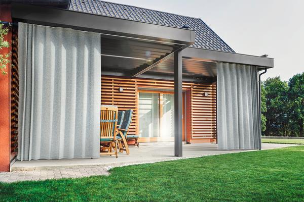 Outdoor-Vorhang Structure nach Maß - Deckenbefsetigung