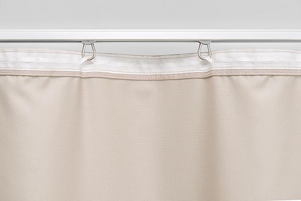 Rückseite - stabiles Vorhangband weiß, schwarz oder grau