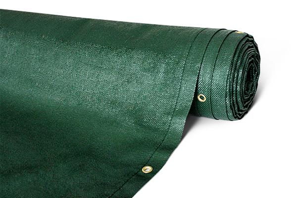 Sichtschutzmatte grün mit Ösen - absolut blickdicht - Grammatur 200 g/m²
