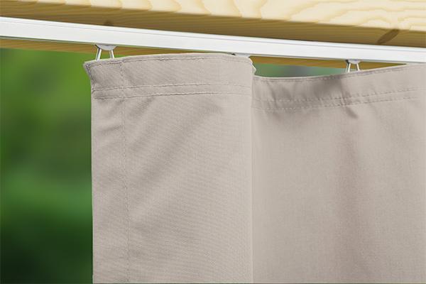 Outdoor-Vorhang Gentle nach Maß - blickdicht für hohen Sichtschutz und Sonnenschutz