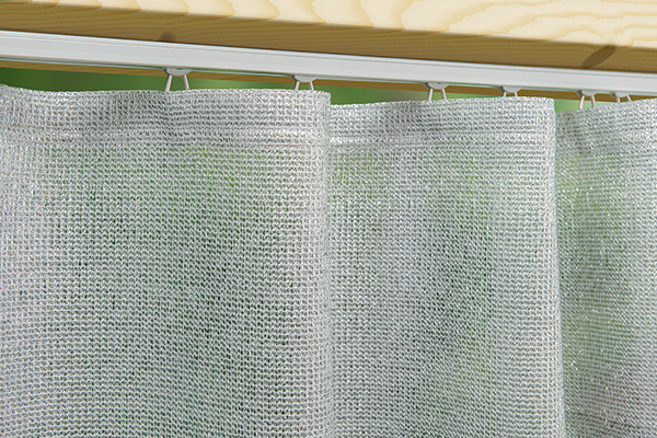 Outdoor-Vorhang Coolish - silber beschichtet für hohen Sonnenschutz