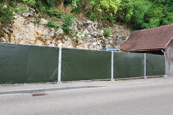 Sichtschutz und Windschutz für die Baustelle