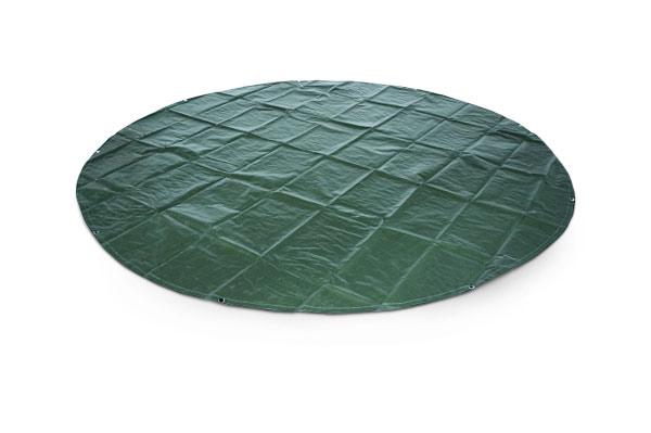 Abdeckplane rund grün - Durchmesser 3m, 4m und 5m - 210 g/m²
