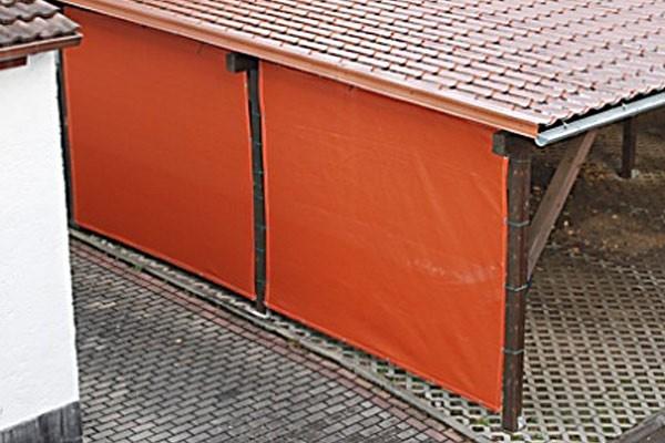 carport seitenwand verkleiden mit pvc plane oder windschutznetz. Black Bedroom Furniture Sets. Home Design Ideas