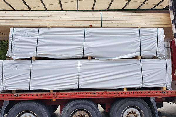Abdeckfolie - Verpackungsfolie - beidseitig weiß - 150 my