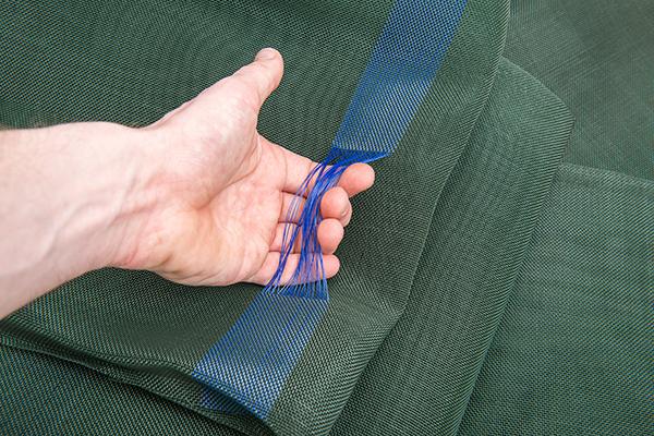 Siloschutzgitter mit Schlaufen zum Ausbreiten