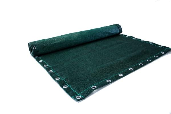 Zaunblende grün mit Ösen - 98% Sicht- und Windschutz - 230 g/m²