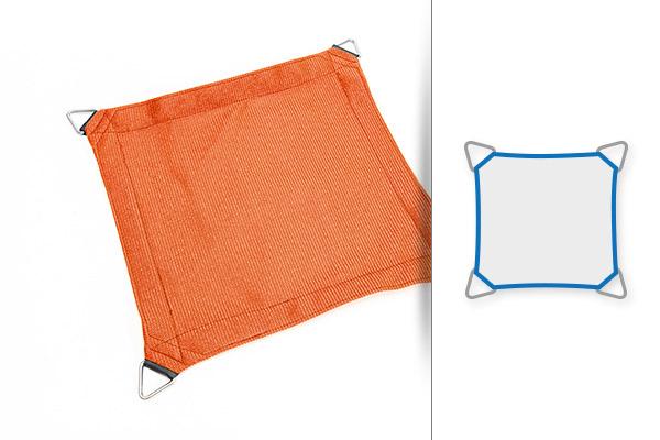 Sonnensegel Form Quadrat 3 x 3 m oder 4 x 4 m