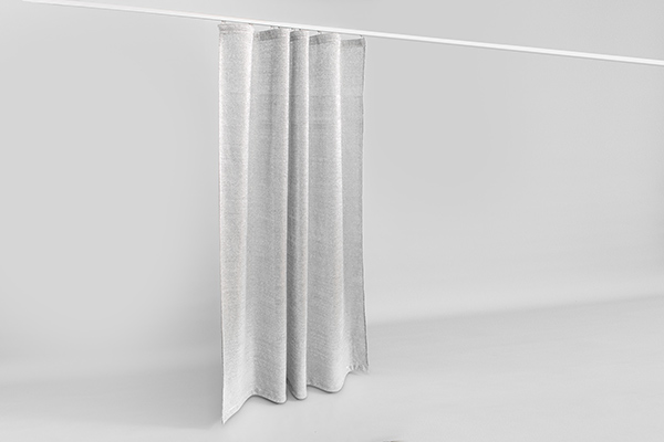 Vorhangschiene Aluminium silber eloxiert