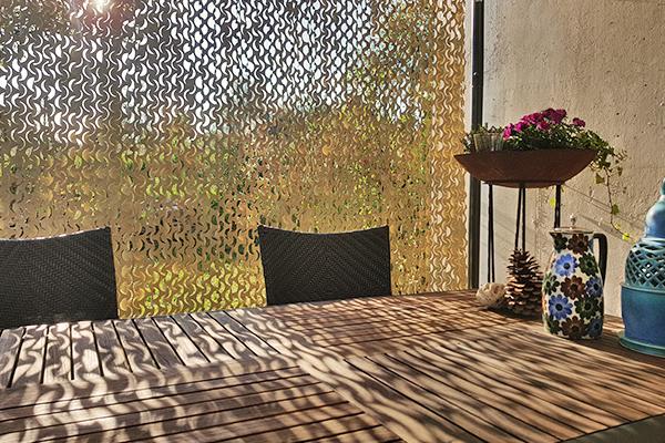 Outdoor-Vorhang Camouflage nach Maß für Sonnenschutz und Sichtschutz