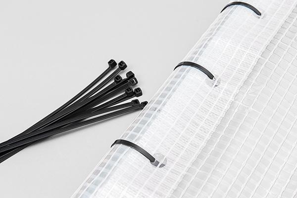 Gerüstplane transparent mit Gitter
