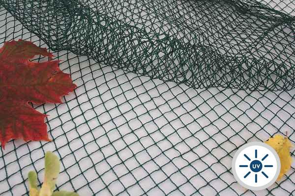 Teichnetz grün, grobmaschig - 38 g/m² - Maschenweite 15 x 15 mm