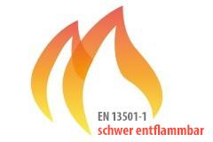 EN 13501-1 erfüllt auch die Anforderungen B1 DIN 4102