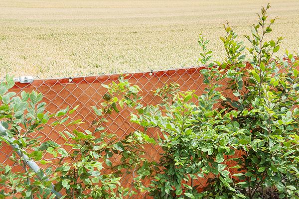 Windschutz am Maschendrahtzaun Industrie Landwirtschaft