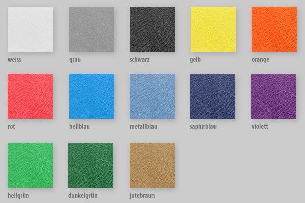 13 lieferbare Farben