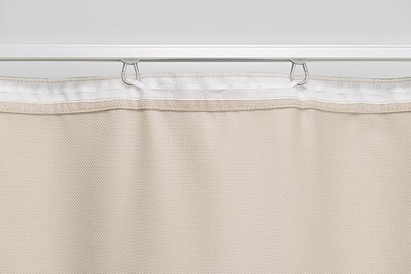 stabiles Vorhangband weiß, grau oder schwarz wählbar