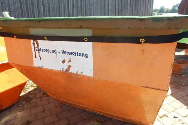Passende Abmessungen für Muldencontainer