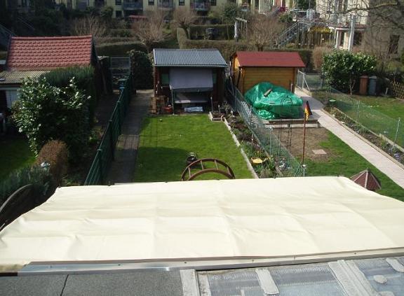Dachplane nach Montage Anfang April 2013