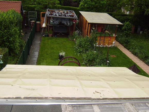 Dachplane Juni 2015 bei dauerhaftem Außeneinsatz nach schwerem Unwetter mit Hagel