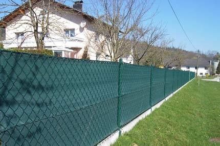 Sichtschutz für zäune grün