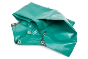 Brennholz Abdeckplane aus PVc grün oder blau