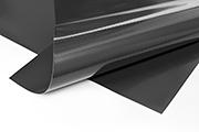 Meterware PVC Plane schwarz RAL 9005