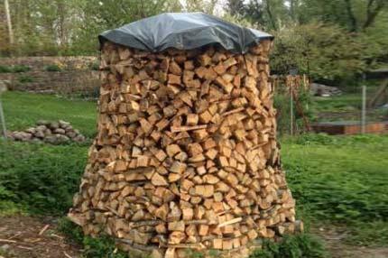 Brennholz Abdeckplane für Holzmiete