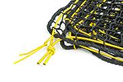 Abdecknetz - das Expanderseil wird durch die stabile Randleine unterstützt