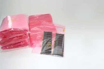 Druckverschlussbeutel - antistatisch - rosa