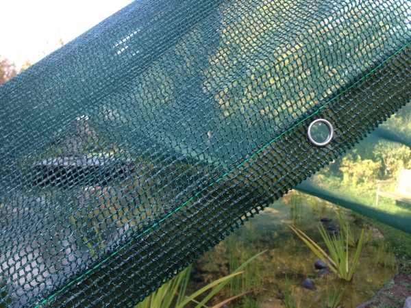 Teichnetz hochreißfest durch verstärkten Saum