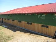 Auch als Windschutz für Stall und Scheune einsetzbar