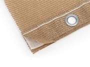Hochwertige Randverstärkung mit eingenähtem Verstärkungsband und speziellen Krallösen