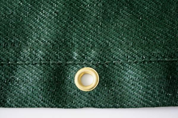 Windschutzgewebe / Ösen / grün