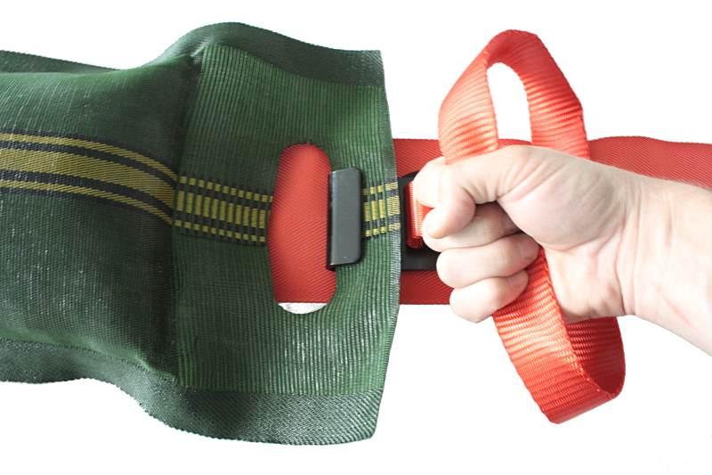 Silosack-Befestigung mit Hebe- und Fixierschlaufe