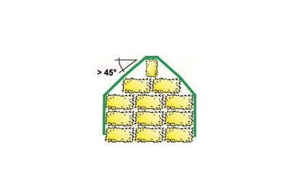Strohballenschutz richtiger Winkel 45 Grad